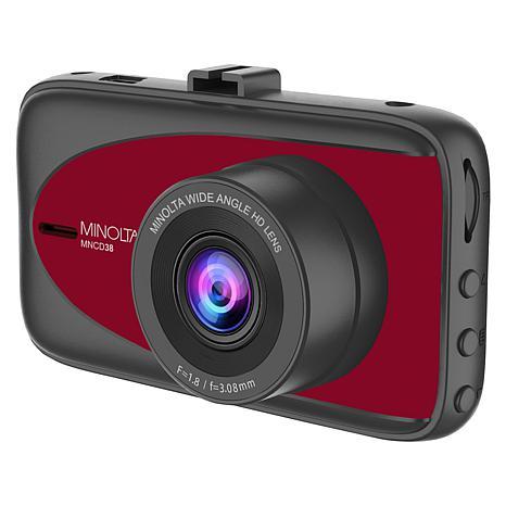 "Minolta MNCD38 3"" LCD Screen 1080p HD Dash Camera"