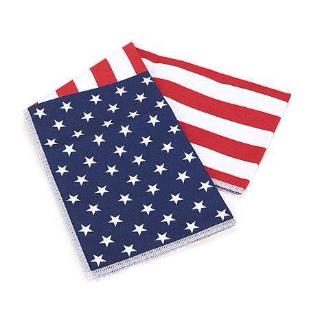 MISSION™ Hydroactive American Flag Cooling Towel