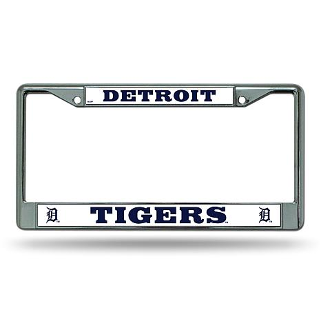 "MLB ""D"" Logo Chrome License Plate Frame - Tigers"