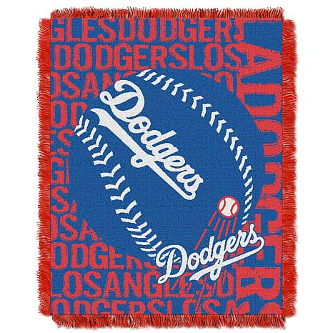 MLB Double Play Woven Throw - Los Angeles Dodgers