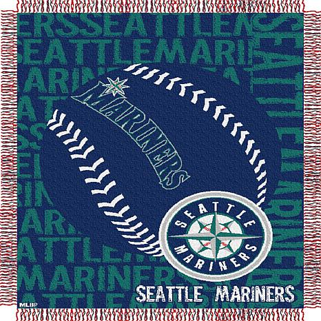 MLB Double Play Woven Throw - Seattle Mariners