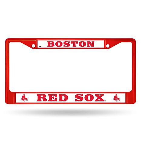 MLB Red Chrome License Plate Frame - Red Sox - 8541492 | HSN