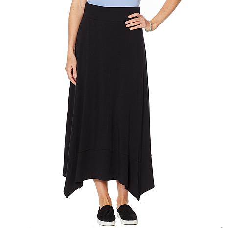 ModernSoul® Easy Knit Jersey Maxi Skirt with Sharkbite Hem