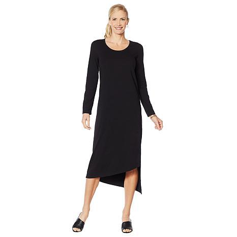 ModernSoul® Long-Sleeve Asymmetric Knit Dress