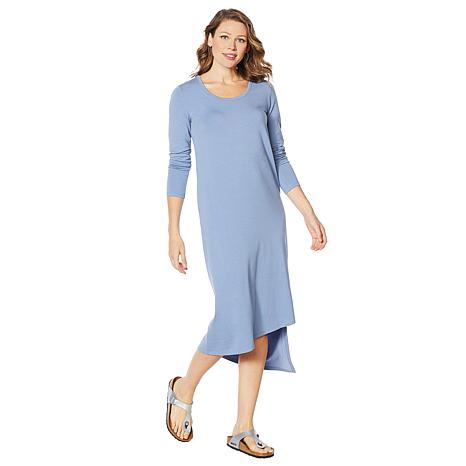 ModernSoul® Long-Sleeve Asymmetric Knit Dress