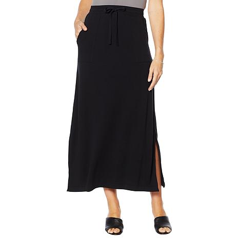 ModernSoul® Luxe French Terry Maxi Skirt with Pockets
