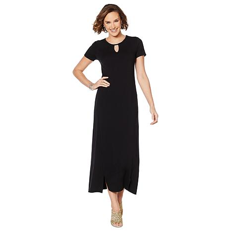 ModernSoul® Short-Sleeve Jersey Knit Maxi Dress
