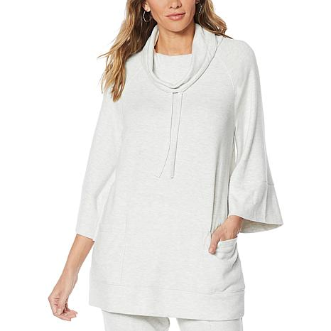 ModernSoul® Soft Touch Hacci Cowl-Neck Pullover