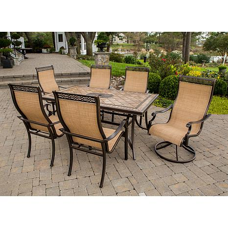 monaco 7 piece outdoor dining set 7461251 hsn