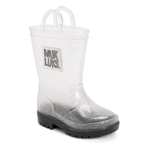 MUK LUKS Girl's Molly Clear Rainboots