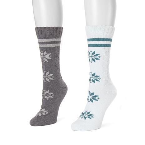 MUK LUKS Women's 2-pack Boot Socks