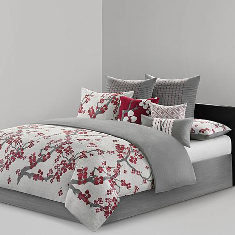N Natori Cherry Blossom California King Comforter Set 7474152 Hsn