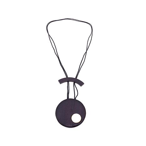 """N Natori Wood and Mother-of-Pearl 36"""" Cord Necklace"""