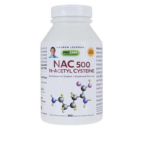 NAC-500 N-Acetyl Cysteine - 360 Capsules