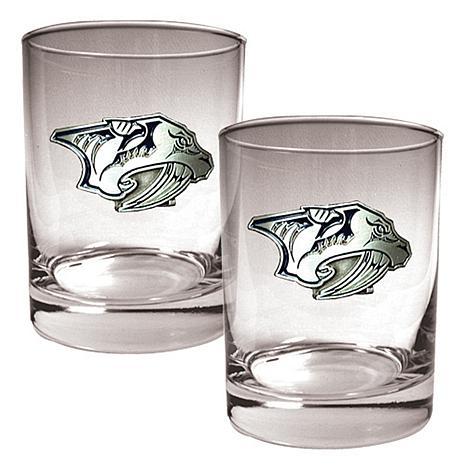 Nashville Predators 2pc Rocks Glass Set