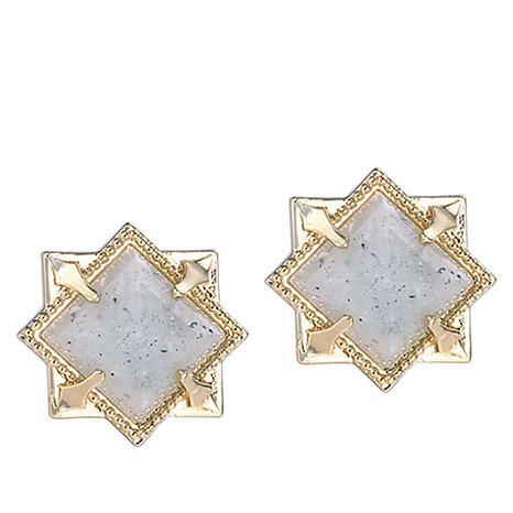 """Natalie Wood Designs """"Runaway Romantic"""" Pyramid Stud Earrings"""