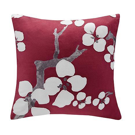 """Natori Cherry Blossom Square Pillow - 18"""" x 18"""""""