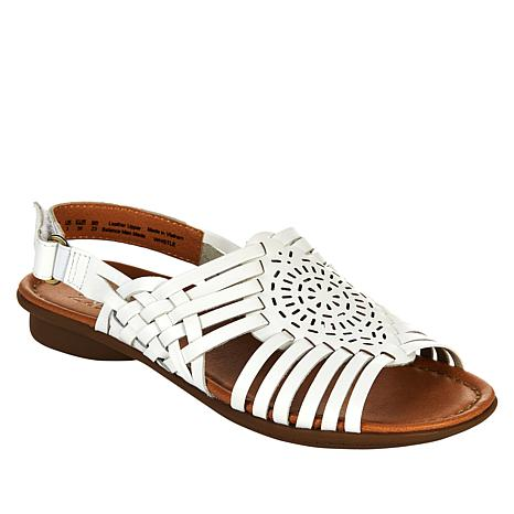 Naturalizer Whistle Woven Leather Flat Sandal