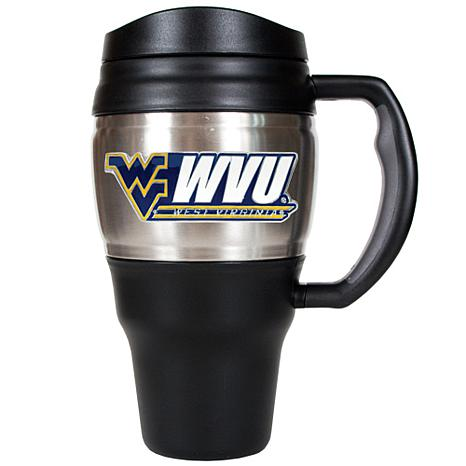 NCAA 20 oz. Heavy Duty Travel Mug - West Virginia