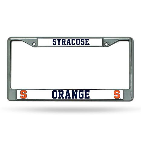 NCAA Chrome License Plate Frame - Syracuse
