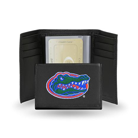 NCAA Embroidered Leather Trifold - Florida