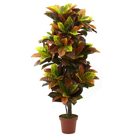 """Nearly Natural 56"""" Croton Real Touch Plant"""