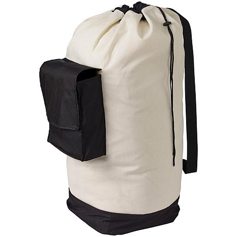 neatfreak Canvas Laundry Duffle Bag with Pocket and Shoulder Strap