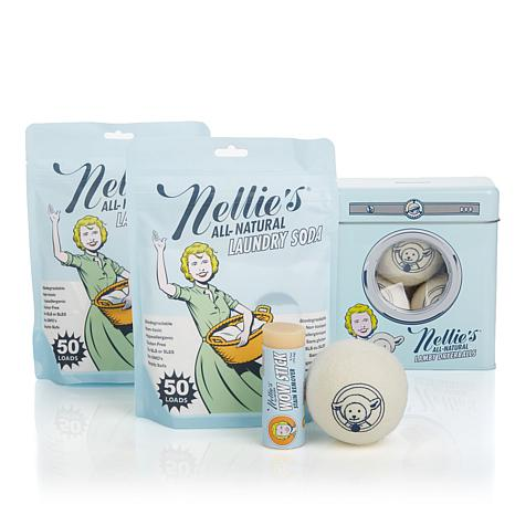 Nellie's Natural Laundry Soda, Dryerballs & Stain Stick