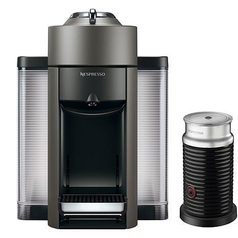 Nespresso VertuoPlus Titanium Single-Serve Machine w/Aeroccino Frother
