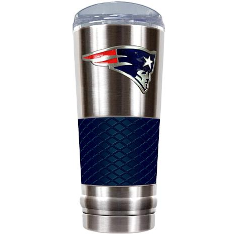 NFL 24 oz. Stainless Steel/Blue Draft Tumbler -Patriots