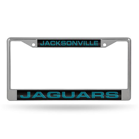 Officially Licensed NFL Black Insert Laser-Cut Chrome License Plate ...