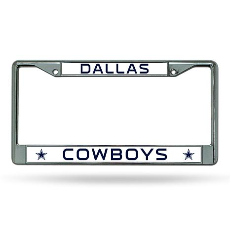 NFL Chrome License Plate Frame - Cowboys