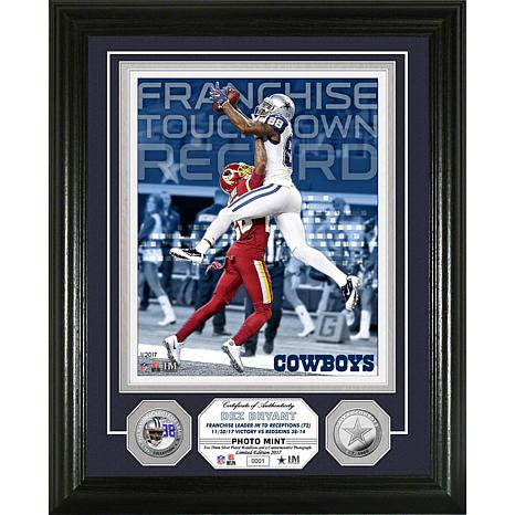 NFL Dez Bryant Touchdown Receptions Record Silver Photo Mint