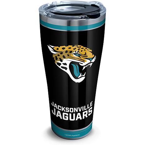 NFL Jacksonville Jaguars Touchdown 30 oz Stainless Steel Tumbler wi...