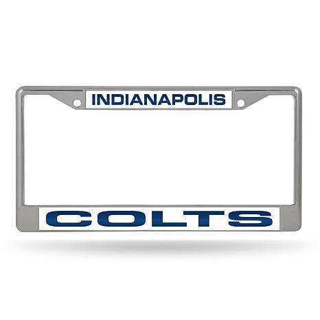 Officially Licensed NFL Laser-Cut Chrome License Plate Frame - Colts ...