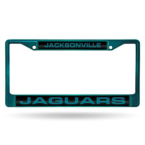 NFL Laser-Cut Chrome License Plate Frame -  Jaguars