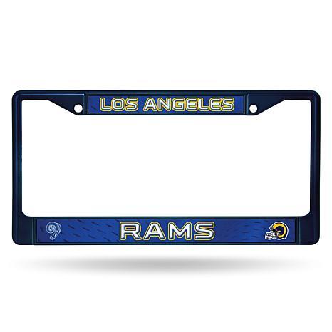 NFL Navy Retro Chrome License Plate Frame - Rams