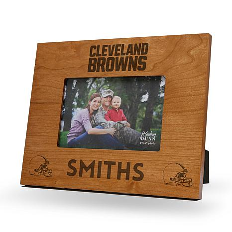 NFL Sparo Personalized Engraved Wood Picture Frame - Browns