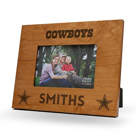 NFL Sparo Personalized Wood Picture Frame - Cowboys