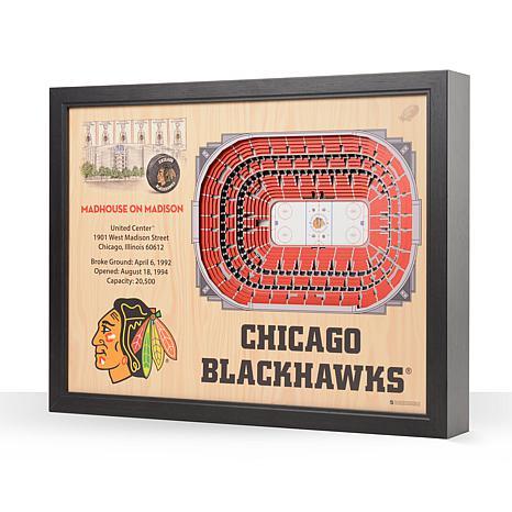 NHL Chicago Blackhawks 25-Layer 3-D Wall Art - United Center
