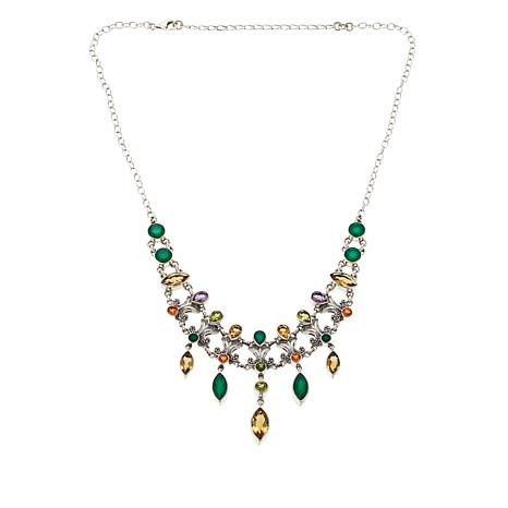 Nicky Butler Green Chalcedony, Citrine and Gem Necklace