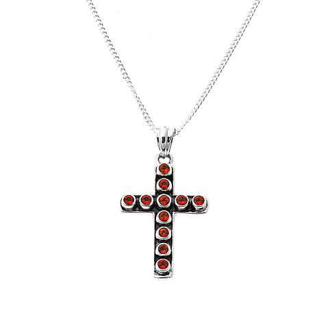 Nicky Butler Honey Topaz  Cross Pendant