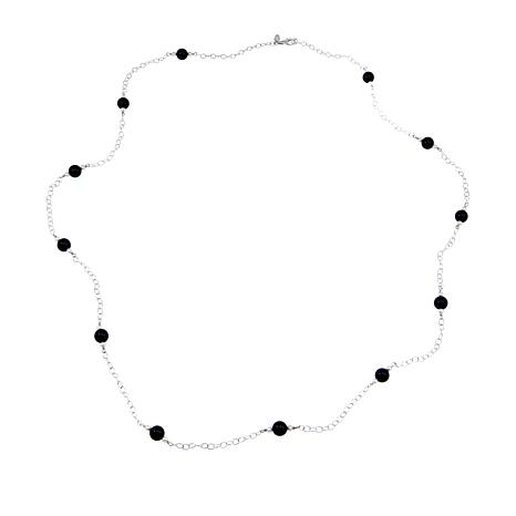 "Nicky Butler Onyx and Cultured Freshwater Pearl Bead 38"" Necklace"