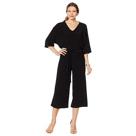 Nina Leonard Matte Jersey Jumpsuit