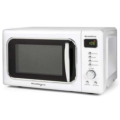 Nostalgia Classic Retro 0.7 Cu. Ft. Microwave - White