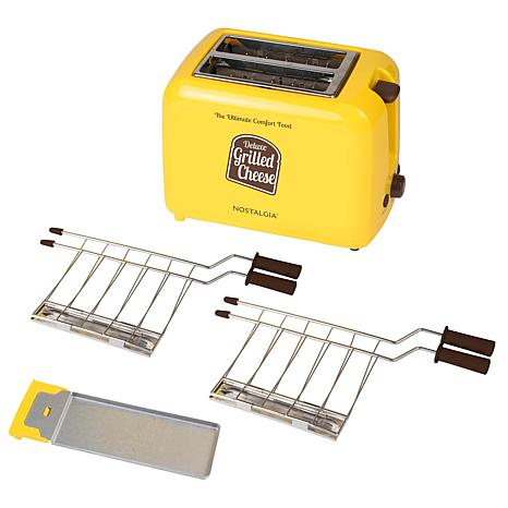 Nostalgia Deluxe Grilled Cheese Sandwich Toaster In Yellow 9276897 Hsn