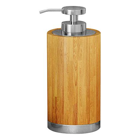 Nu-Steel Ageless Bamboo & Steel Soap/Lotion Dispenser