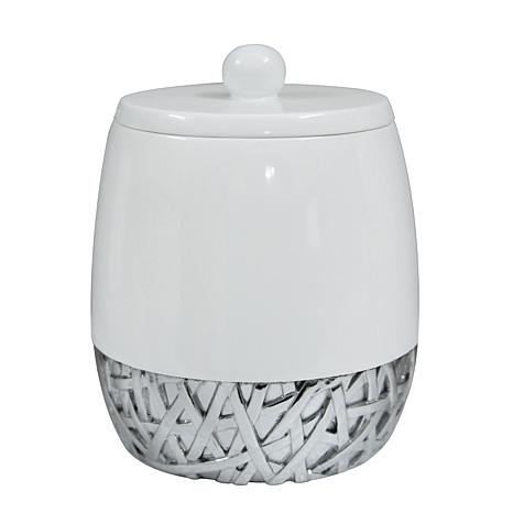 Nu-Steel Bali White Cotton Swab Container