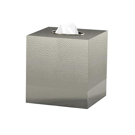 Nu-Steel Classic Hammered Stainless Steel Boutique Tissue Holder