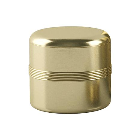 Nu-Steel Jewel Gold Cotton Swab Container
